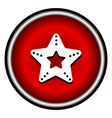 Single starfish icon on round colorful butt vector image