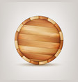 barrel wooden sign wooden 3d icon vector image
