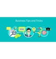 Business Tips and Tricks Design vector image