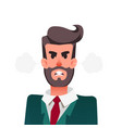 cartoon funny angry office worker furious vector image