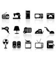 Home appliances icon set vector image