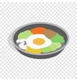 korean dish bibimbap isometric icon vector image