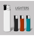Realistic set of lighters for your brand vector image