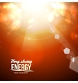 Red sun bokeh abstract background vector image