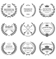 Set of premium quality labels and badges vector image