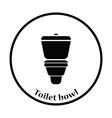 Toilet bowl icon vector image