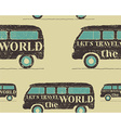 Vintage Seamless pattern camping Retro Rv and vector image