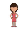 woman with elegant dress vector image