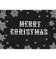 Merry Christmas Greeting On blackboard texture vector image vector image