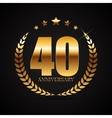 Template Logo 40 Years Anniversary vector image