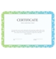 Certificate Template diploma currency border vector image vector image