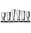 beer glassware vector image