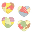 Patchwork hearts vector image