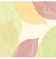 Autumn Leaves Pattern EPS 8 vector image vector image