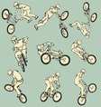 BMX Free style sport collection vector image vector image