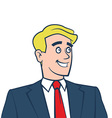 Happy smiling businessman looking away vector image vector image