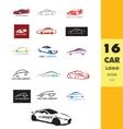 Car auto logo icon vector image