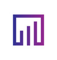 square finance sign logo vector image