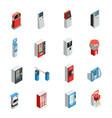 vending machines icons set vector image