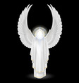 White angel on black vector image