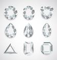 white gem vector image
