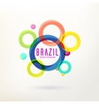 Abstract background with circle vector image