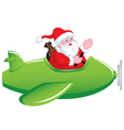 Santa in Airplane vector image vector image