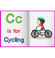 A picture of cycling in a book vector image vector image