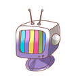 A television is placed vector image