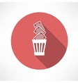 Recycle bin full of paper icon vector image