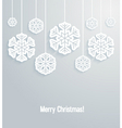 Christmas background with paper snowflakes vector image vector image