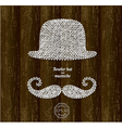 Bowler hat and mustache vector image vector image