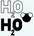 H2O symbol vector image vector image