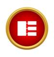 Hierarchy icon simple style vector image