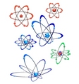 Atom collection vector image