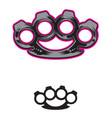 brassknuckles vector image