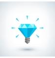 Brilliant idea concept Light bulb polygonal vector image