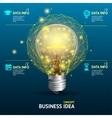 business idea concept illuminated lamp vector image