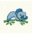Cute cartoon koala on a tree vector image