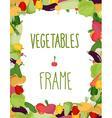 Fresh vegetables frame Healthy food vector image
