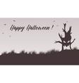 Happy Halloween backgrounds tree monster vector image
