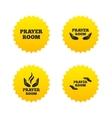 Prayer room icons Religion priest symbols vector image