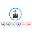 radio control device rounded icon vector image