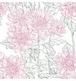 Seamless pattern chrysanthemum vector image