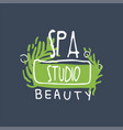 spa beauty studio logo design emblem for vector image