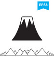volcano icon isolated vector image