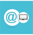 laptop mail network icon vector image