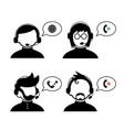 operator customer support cartoon vector image