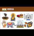 india travel destination promotional poster with vector image
