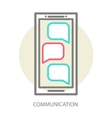 Chat on the phone vector image
